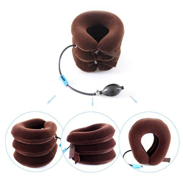 Servicio del OEM salud cuidado cervical portátil colorido inflable cuello espina cuidado con el mejor precio
