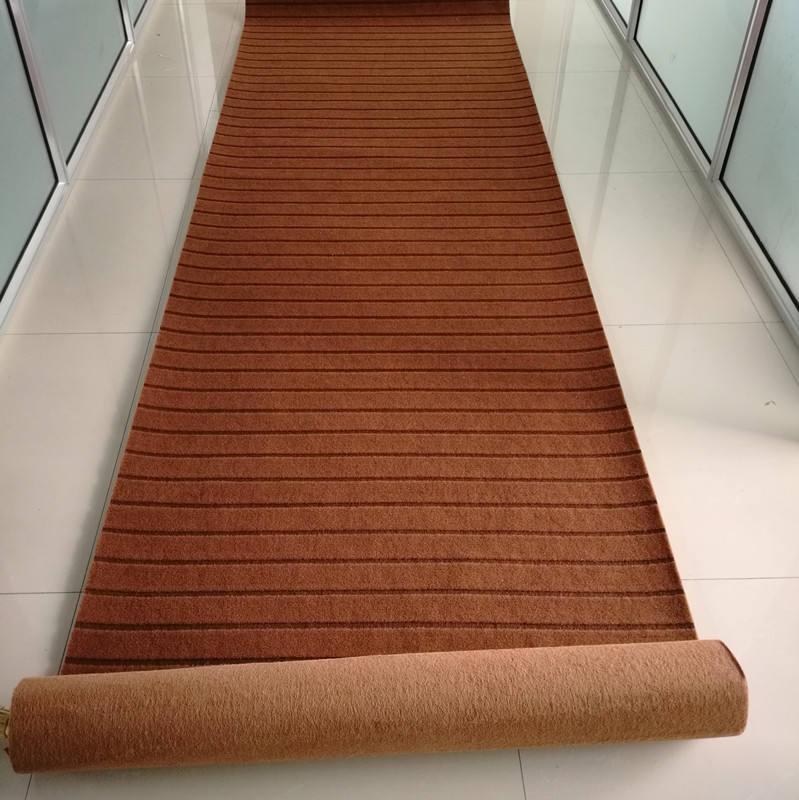Punzonado no tejido rayas al aire libre acanalado alfombra Jacquard