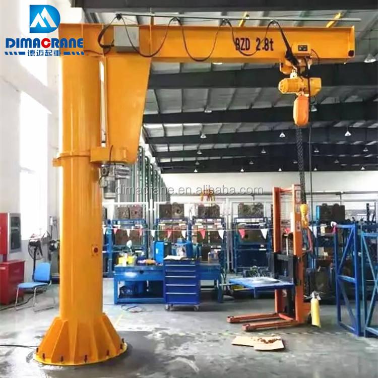 2 toneladas de pie columna Pilar montada grúa <span class=keywords><strong>pluma</strong></span> giratoria <span class=keywords><strong>precio</strong></span> en mecanizado de acero taller