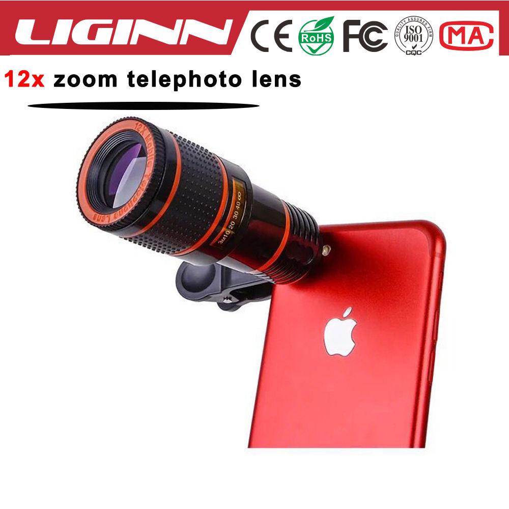 LIGINN migliore vendita di elettronica di consumo accessori mobile 12X Zoom ottico lente del Telescopio per il regalo Di Natale