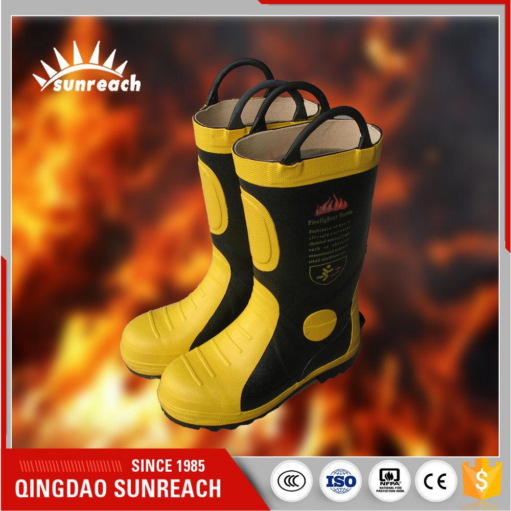 Фабрики китая Для Пожарного Анти Истиранию Антипробуксовочная Безопасности Fire Proof Резиновые Сапоги