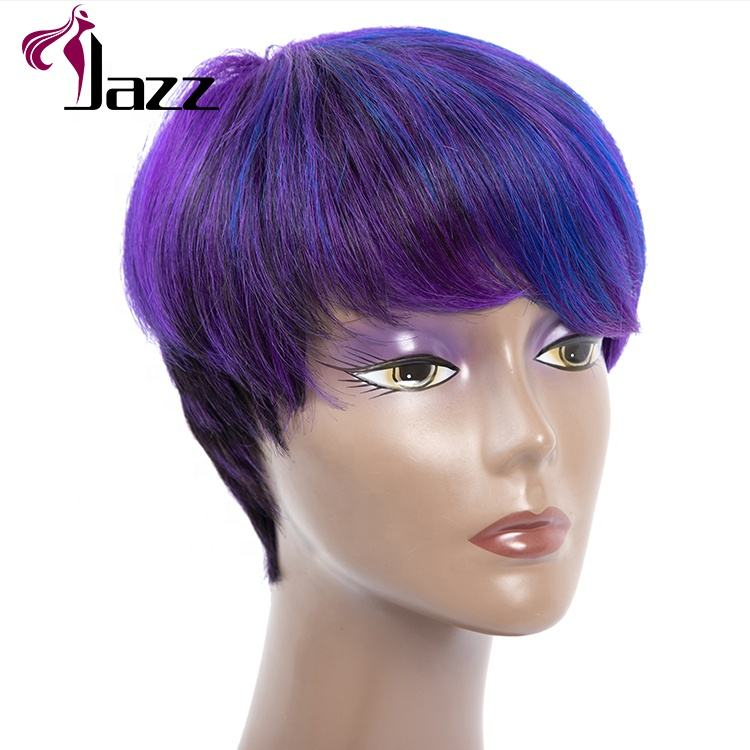 Venta al por mayor de alta calidad de Color azul de encaje brasileño frente <span class=keywords><strong>Peluca</strong></span> de cabello humano