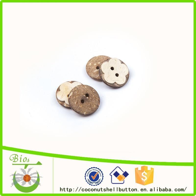 Botón de China proveedor encargo de coco floral <span class=keywords><strong>ni</strong></span>ños garment accesorio botón