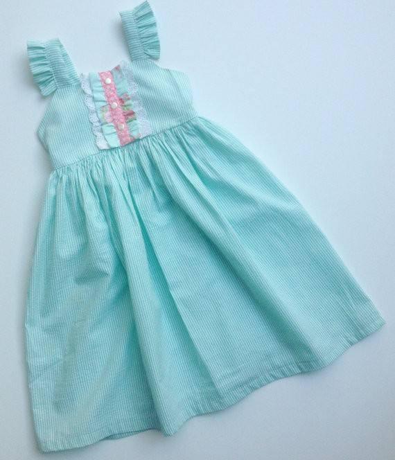 ييوو الملابس أكمام فساتين الاطفال ملابس من قطعة عادي <span class=keywords><strong>بوتيك</strong></span> النسيج القطني