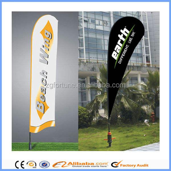 Оптовая Цена Реклама Перо пляжное полотенце мини флаг флаг