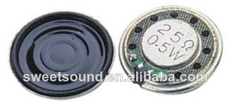 Rico de sonido del altavoz de mylar 20mm 25 0.5w ohm