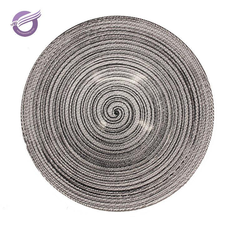 PZ01180 silber neue stil teller türkei glas ladegerät platte für event