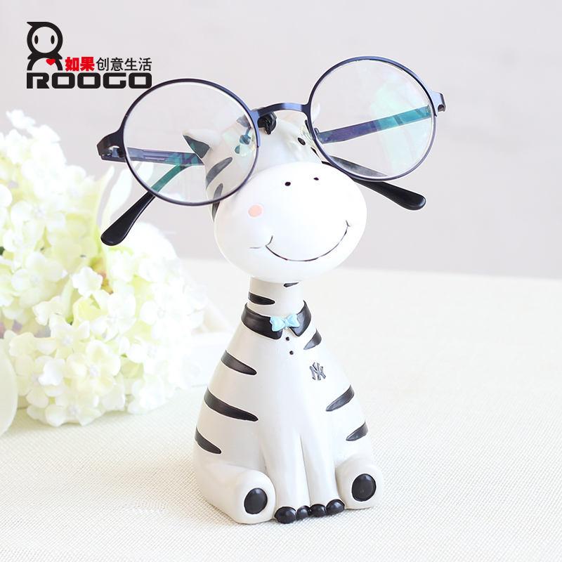 Adorável zebra 3D design armação dos óculos titulares display stand para o frame