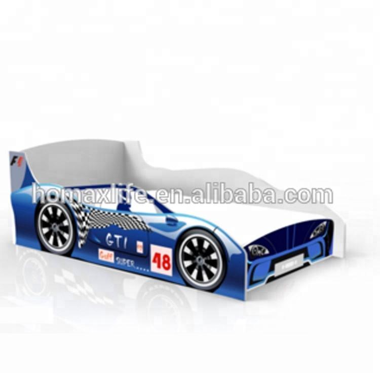 Modern últimas muebles para niños lindo niños coche de madera forma cama