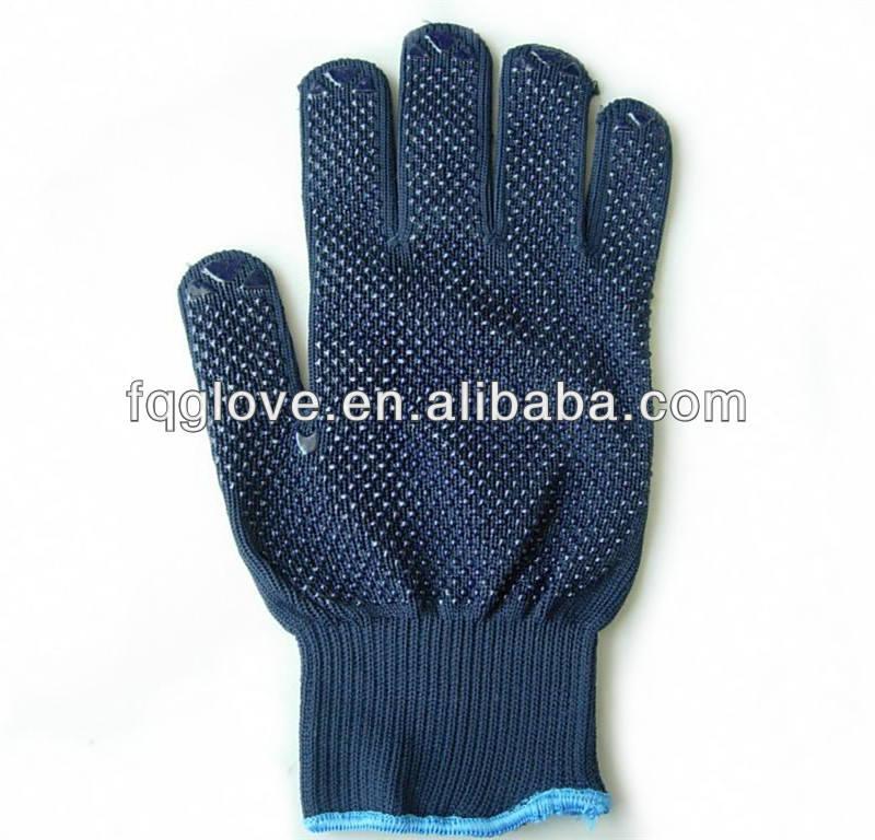 Fqglove marine pvc dots travail des gants de coton