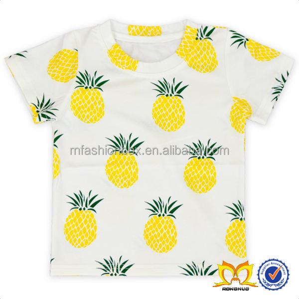 ананас детские рубашки с коротким рукавом Пользовательские Футболка с принтом одежда для малышей дизайнер