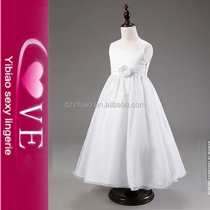 أطفال فساتين الزفاف بيضاء طويلة وملابس الموضة الجديدة <span class=keywords><strong>بوتيك</strong></span> بالحجم الكامل الفتيات