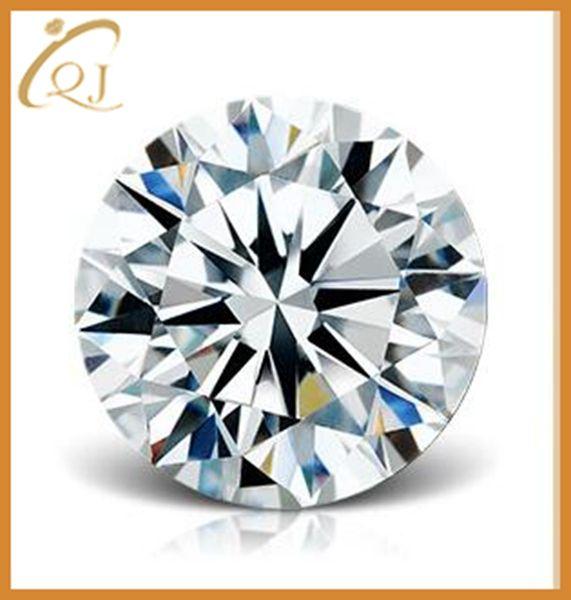 Grande oferta 1,5 milímetros 2,0 milímetros 2,5 milímetros rodada cortar pedras preciosas cúbicos zircônia para preço de atacado
