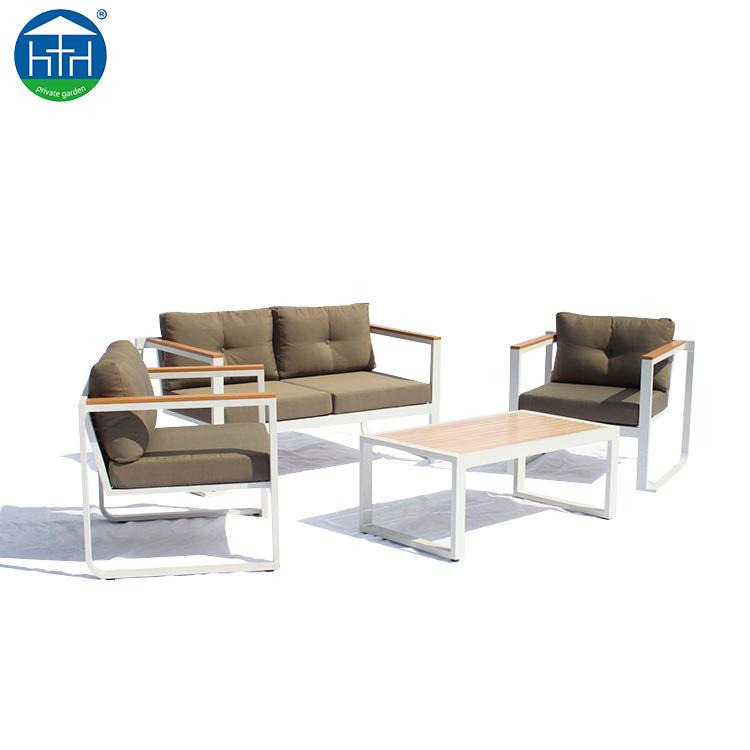 DW-SF1508 Vida de Ocio Conjunto de Salón Sofá De Teca Muebles de Exterior De Aluminio A Prueba de agua