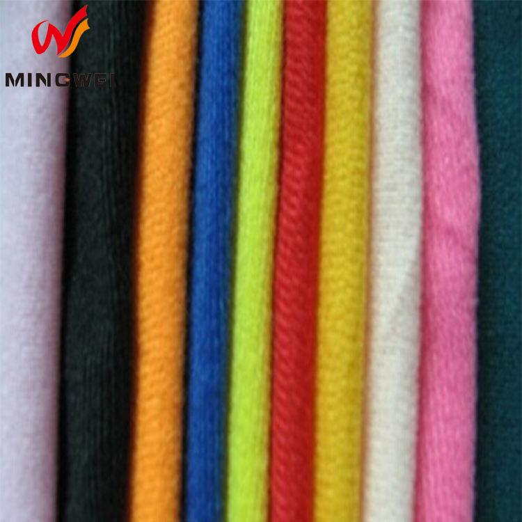 Su geçirmez Spor Suit Polyester Örgü Kumaş, dayanıklı 100 Polyester <span class=keywords><strong>Triko</strong></span> Fırçalanmış Kumaş