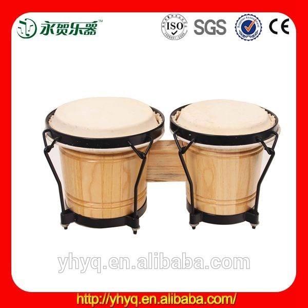 China suministro de música de percusión bongo <span class=keywords><strong>tambores</strong></span> 6.5& pulgadas pulgadas 7.5 bongos ritmo- acabado natural