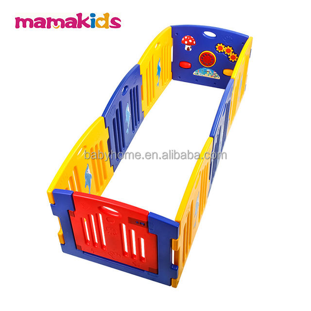 Mamakids H0805B Plastic Baby Playpen 12 Panel Safety Play Center Yard Home indoor outdoor