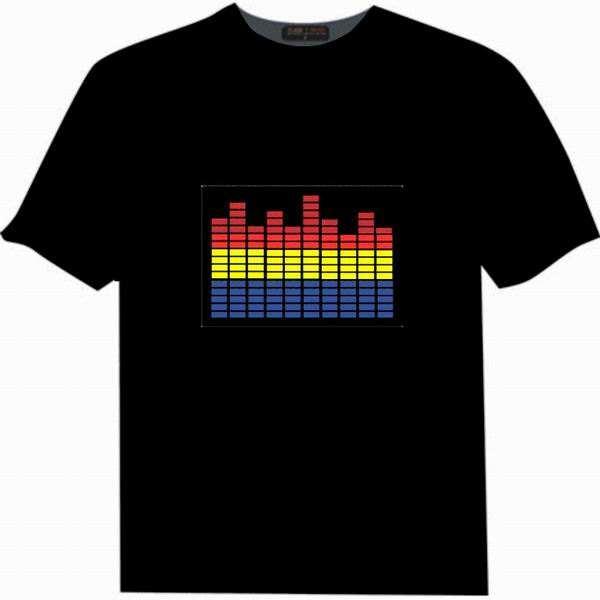 Halloween intermitente camiseta lavable Programable <span class=keywords><strong>EL</strong></span> <span class=keywords><strong>ecualizador</strong></span> música Control