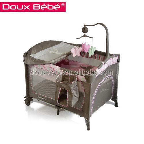 Doux bebe <span class=keywords><strong>cuna</strong></span> portátil, con freno de rueda de carro de bebé <span class=keywords><strong>cuna</strong></span>