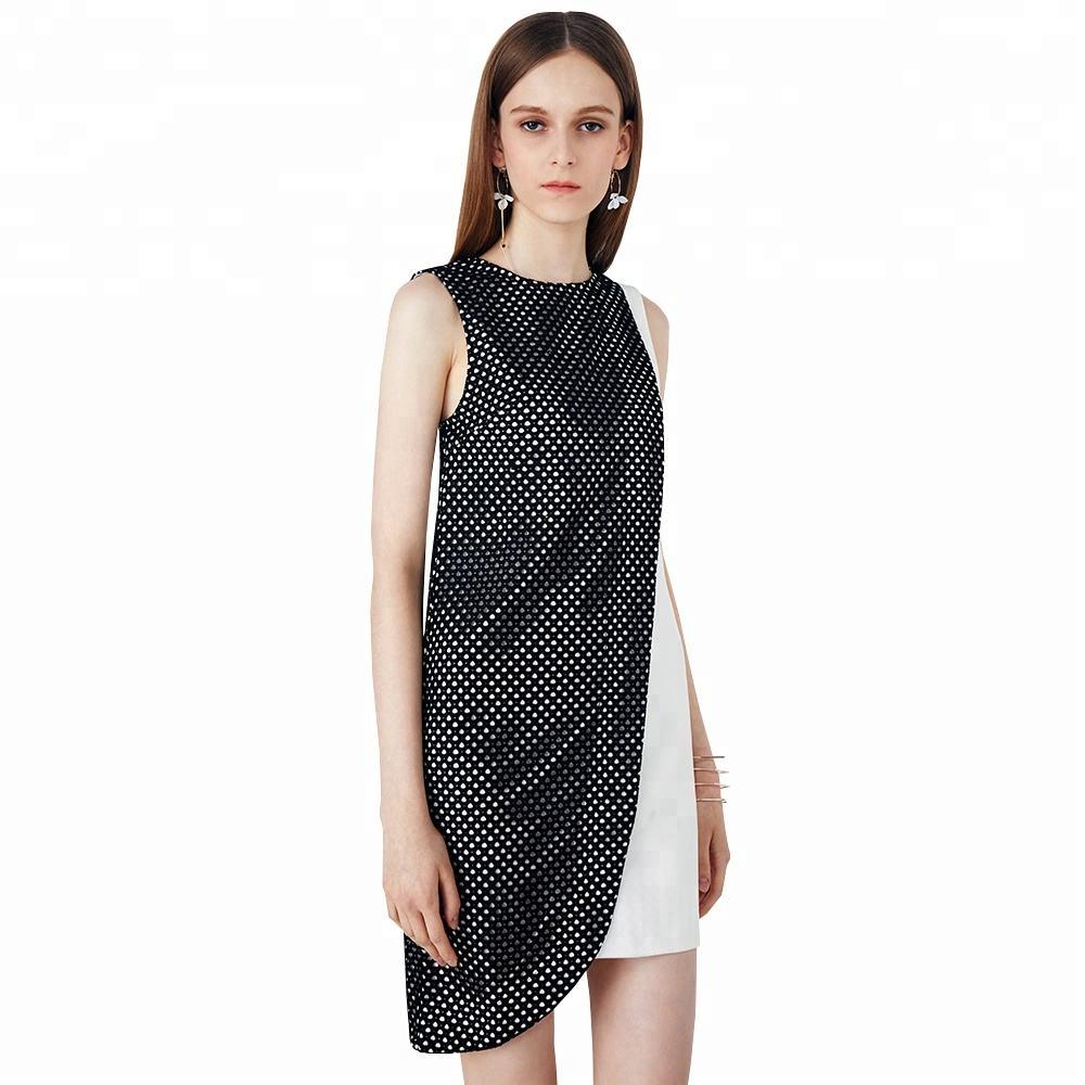 Offizielle Asymmetrische Fishnet Tank Custom Gaun Designs Kleid Farbe Kombination Kleid für <span class=keywords><strong>Frauen</strong></span>