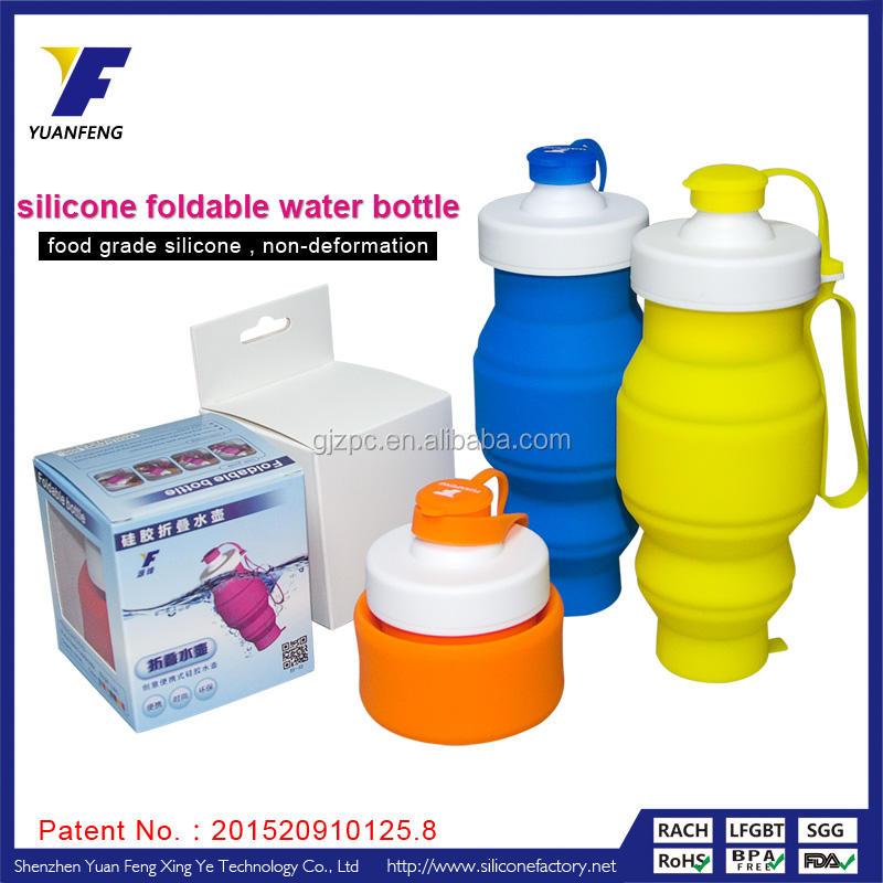 thiết kế mới BPA miễn phí silicone <span class=keywords><strong>gấp</strong></span> thể thao dưới nước chai