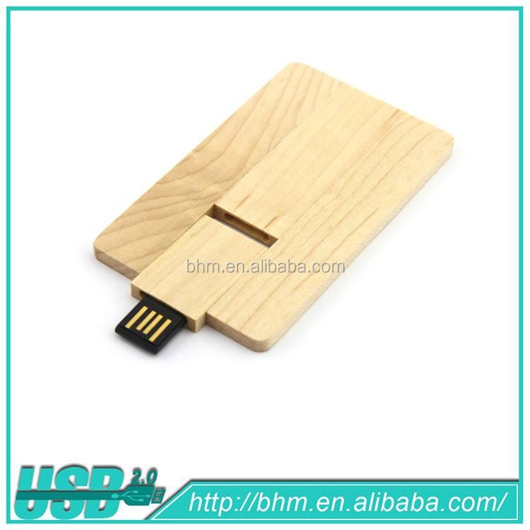 Madera creativa tarjeta de negocios mejor regalo tarjeta de madera del USB 2.0 de memoria <span class=keywords><strong>Flash</strong></span> Stick Pen Drive pulgar