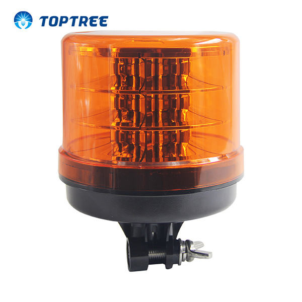 10-48V SAE-J845 / ECE-R65 / EMC認証 農機車両向け LED回転ビーコン 安全警告ライト