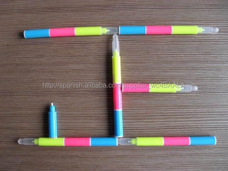 <span class=keywords><strong>Mini</strong></span> de tres colores en uno, UV permanente marcador pluma CH6009
