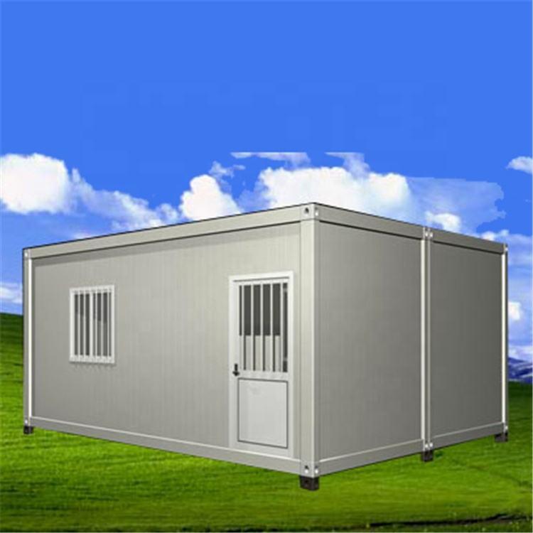 Plat pack conteneur maison avec 4 poteaux et panneaux de mur échangeables de <span class=keywords><strong>14</strong></span> morceaux