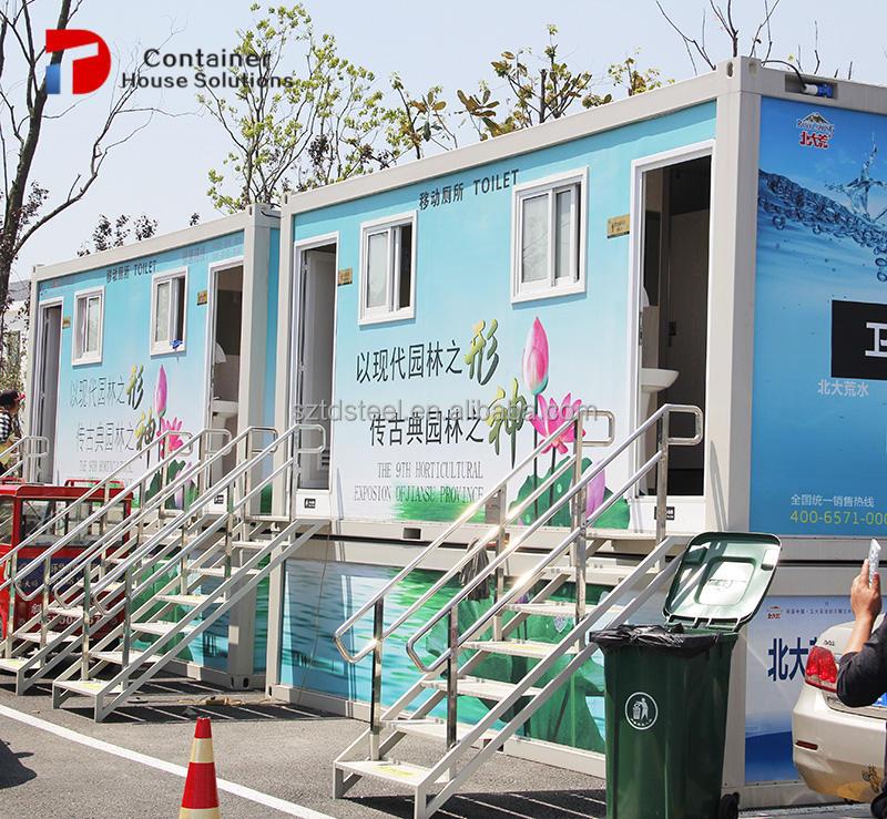 Sanitaria móvil prefabricada contenedor prefabricado aseo