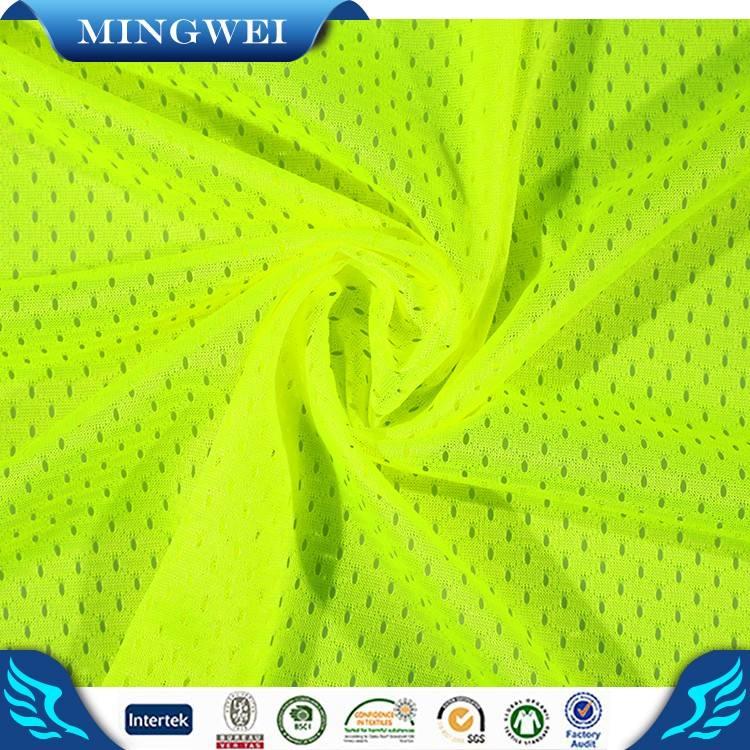 Eco-thân thiện vàng lưới vải cho vest an toàn