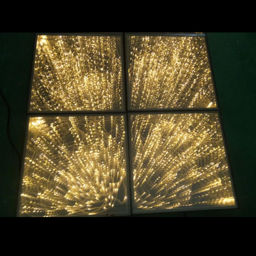Vàng gương infinity led sân khấu sàn nhảy pháo hoa effect spark led đèn sàn cho đám cưới tổ chức sự kiện hiển thị