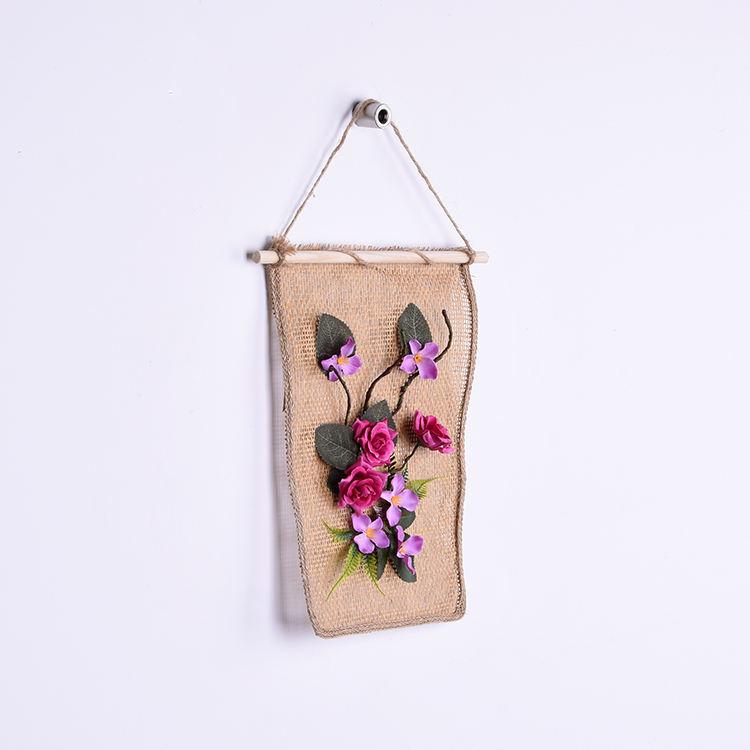 Artificial telas arte de la pared hermosa flor Rosa pintura colgante
