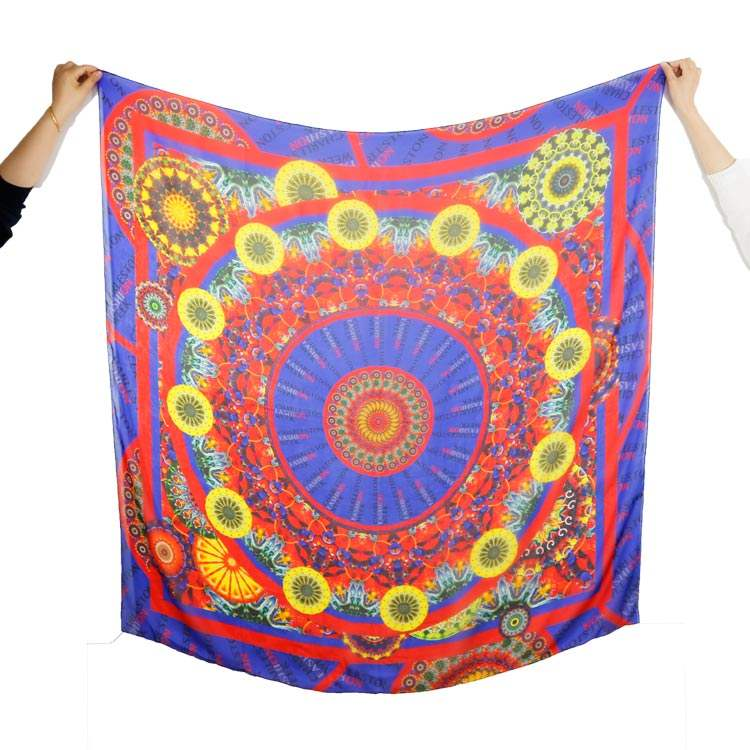 Fotografia imagem impressa design personalizado 8mm chiffon de seda lenço com a mão rolou eges
