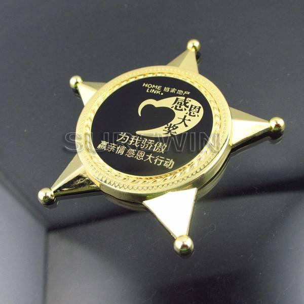 磨かれた技術と高品質の金属ついに土産用のコインのための感謝祭の日