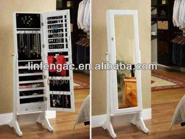 fancy corpo inteiro espelho chão <span class=keywords><strong>jóias</strong></span> armoire chão suporte do espelho