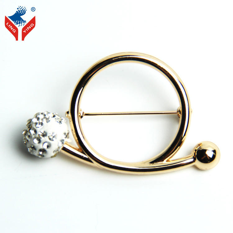 Invenção do casamento Acessórios de Vestuário Ouro Pin Broche de Fantasia Com Bola de Diamantes
