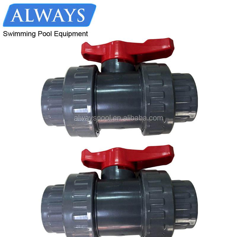 """1/2 """"U-PVC Preço Válvula de Esfera de PVC Acessórios Para Tubos De Água 2 Polegada Válvula de Esfera Dobro da União"""