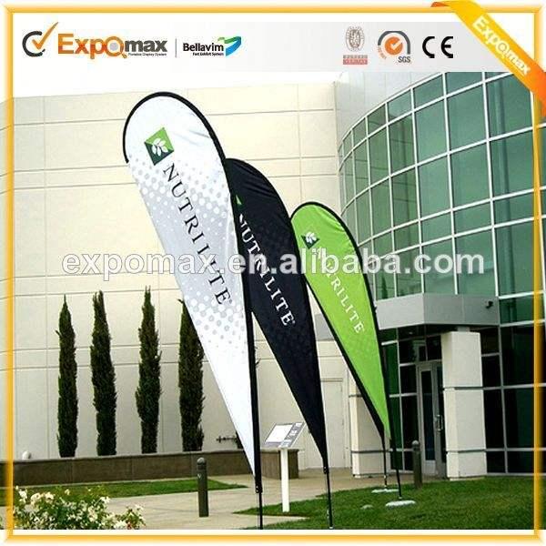 Vente en gros de la publicité extérieure 2.8m flags beach flag banner stands de bannière affiche un mât de drapeau en plein air