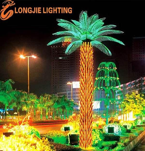 brillante led al aire libre plaza de la luz del árbol
