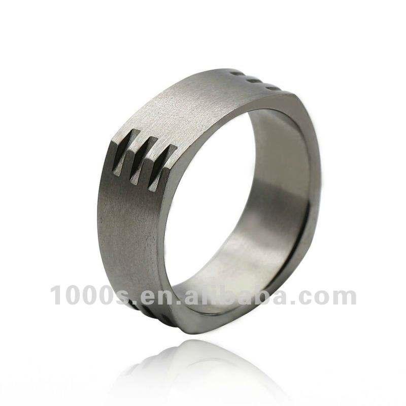 Простой Дизайн Циркон Камень Титана Обручальное Кольцо Для Мужчин
