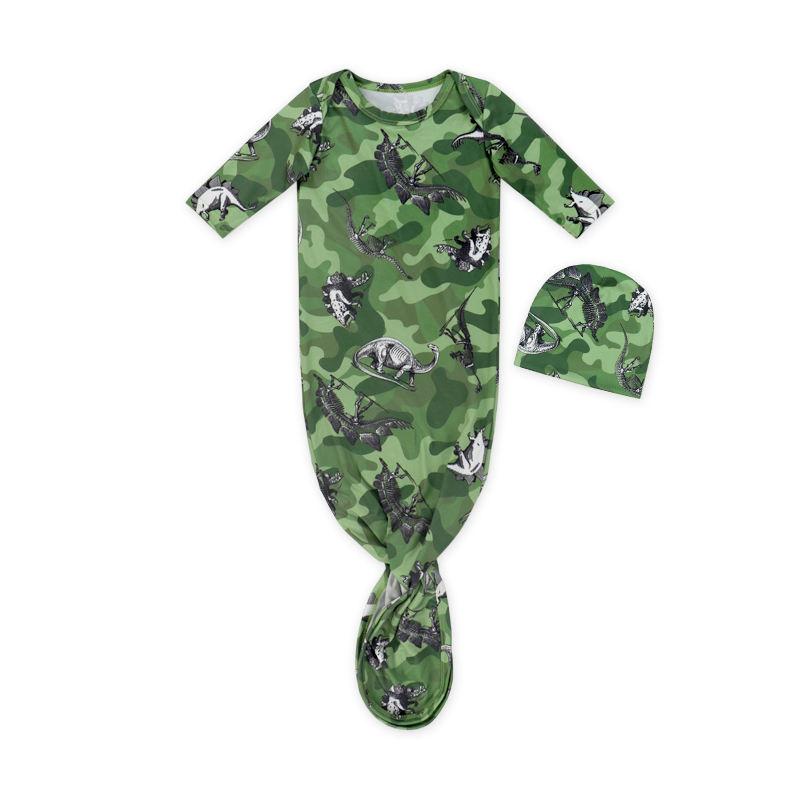 новый шаблон персонализированные детские мягкие спальный мешок для детей ребенок КИТ сна мешок/платье для новорожденной и шляпа