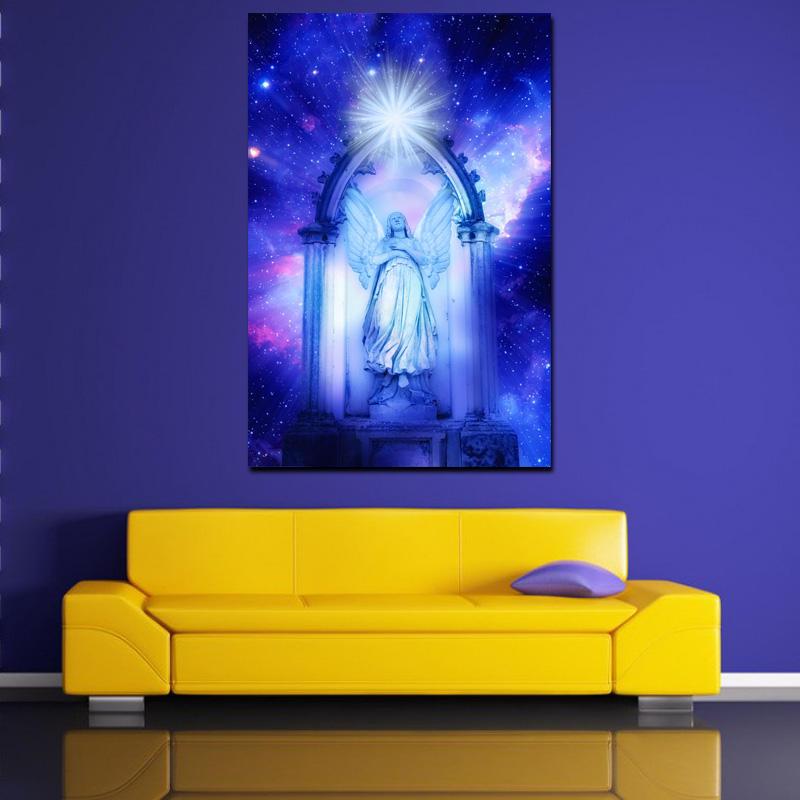 Lienzo cuadro decoración de arte de la pared tela de pintura con luz LED