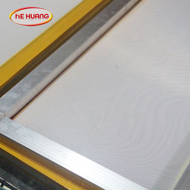 Non-deformable polyester/screen printing aluminum frame for silk screen printing mesh