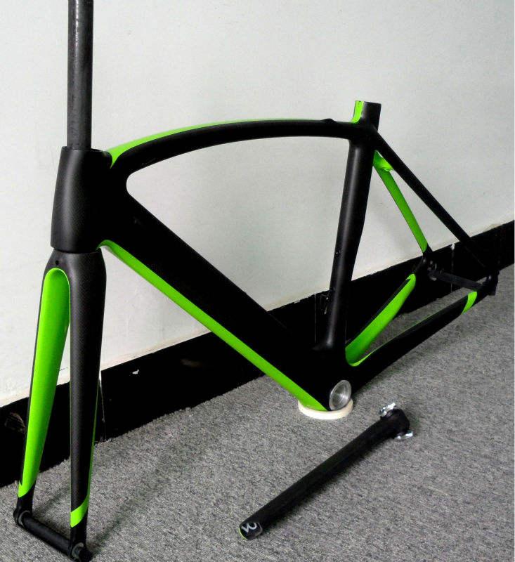 2014 último cuadro de fibra de carbono elegante,marco de fibra de carbono,aparcamiento de bicicletas/cuadros