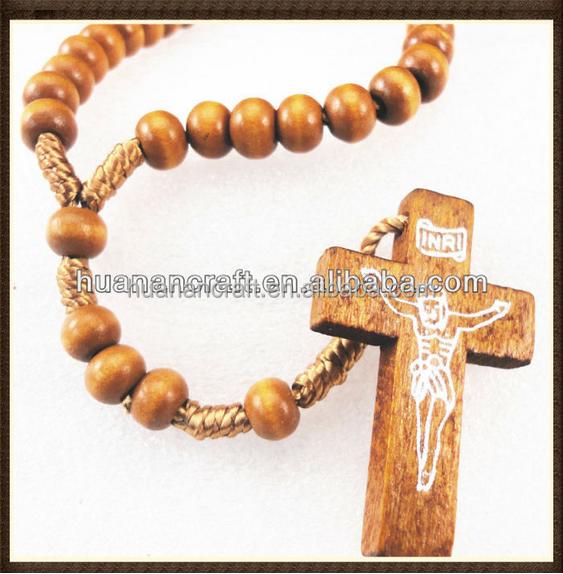 JESUS Crucifix Gỗ Mini Chữ Thập Pendant Necklace, Cross