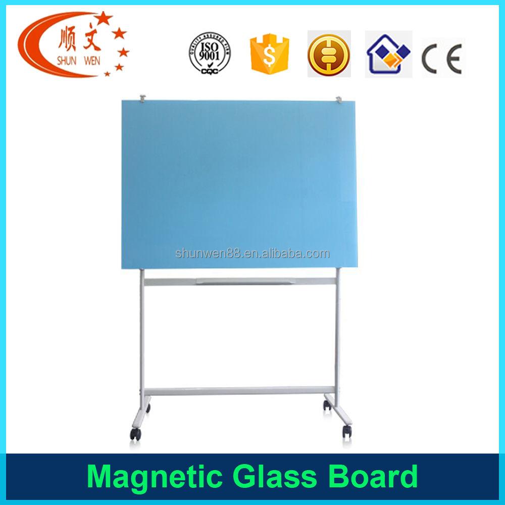Ventas al por mayor extraíble escuela aviso pizarra magnética de cristal templado