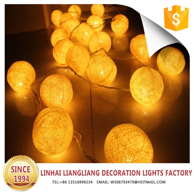 Nuevo diseño de alto rendimiento amarillo bola de algodón luces