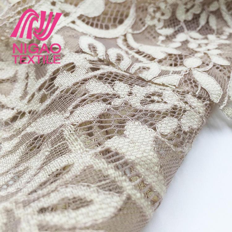 Alta calidad embellecido tela suiza del cordón para el precio bajo