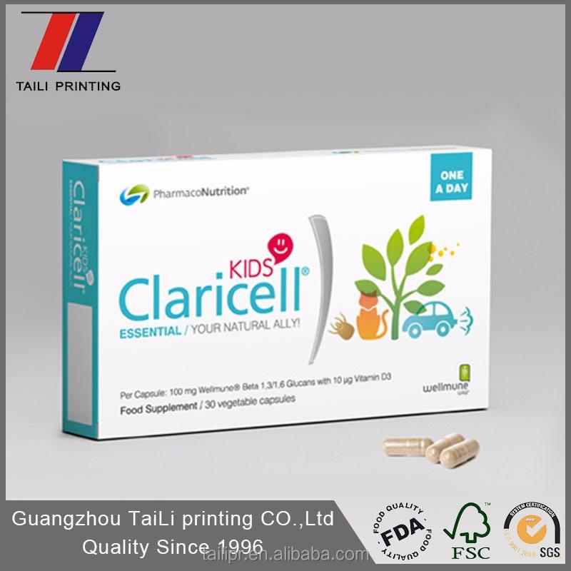 Пользовательские печатные коробки для медицина/фармацевтической упаковки/медицина box